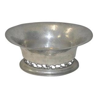Diller & Tornoe Denmark Hand Hammered Silver Plate Pewter Fruit Bowl