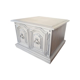 Square French Linen Coffee Table