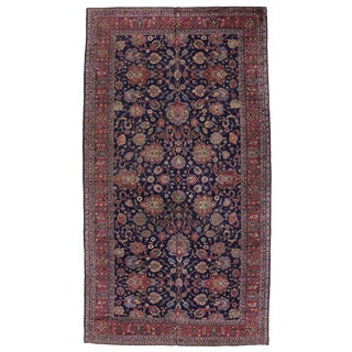 "Antique Turkish Blue Sparta Gallery Rug with Modern Traditional Style -- 9'2"" x 16'10"""