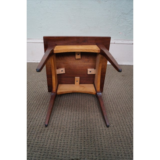 Hand-Crafted Solid Walnut Side Table - Image 7 of 10