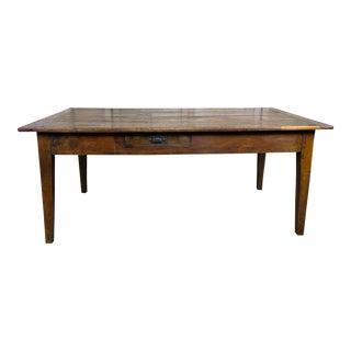 19th C. English Cherry Wood Tea Table