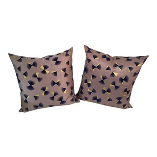 Custom Stark Jacquard Pillows - A Pair