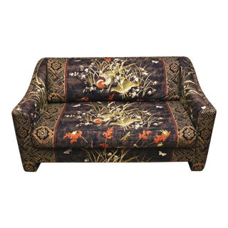 Selig of Monroe Asian Mid-Century Upholstered Loveseat