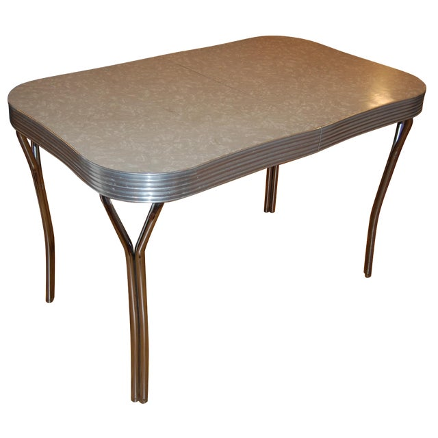 1950s Y-Leg Chrome Dining Table - Image 1 of 6