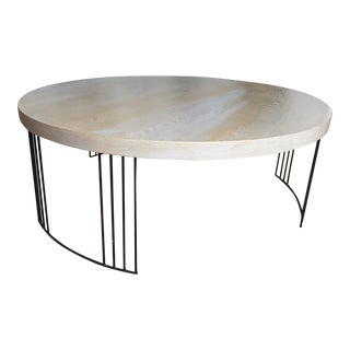 Grey & Brown Round Coffee Table