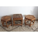 Image of Bamboo Plant Stands & Side Tables - Set of 3