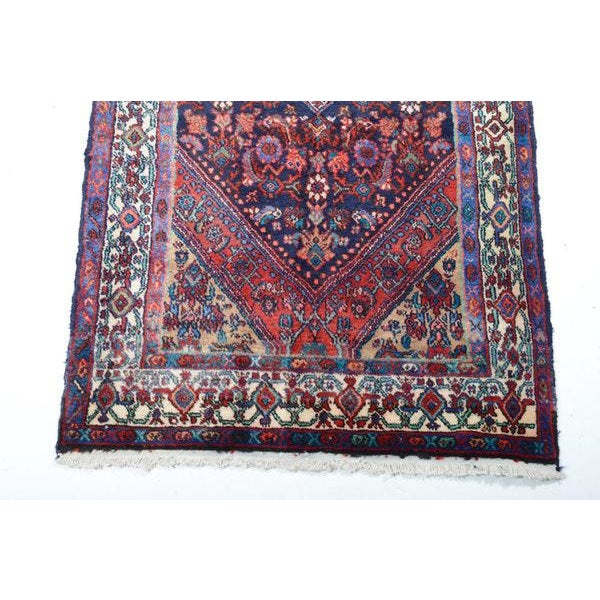Hand Knotted Persian Mahal Runner - 3′10″ × 10′4″ - Image 5 of 11