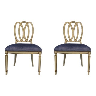 Modern History Accent Chairs - A Pair