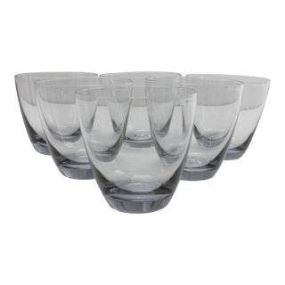 Smokey Blue Stemless Wine Glasses - Set of 6