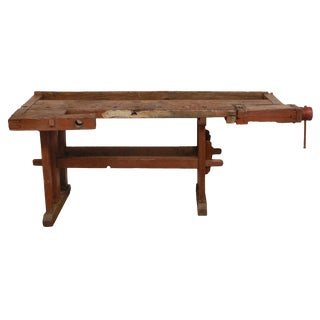 Antique Hungarian Craftsman's Workbench