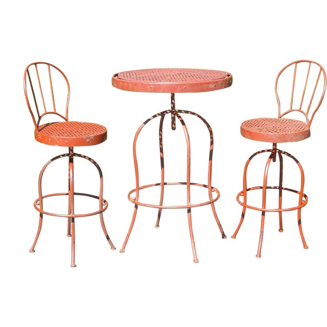 Metal French Bistro Garden Set - Image 1 of 5
