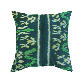 'Java Banana Leaves' Ikat Pillow Cover