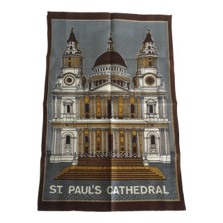 Vintage St Paul's Cathedral London Tea Towel