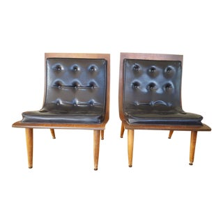 Carter Brothers Scoop Chairs - A Pair