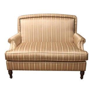 Transitional Striped Settee