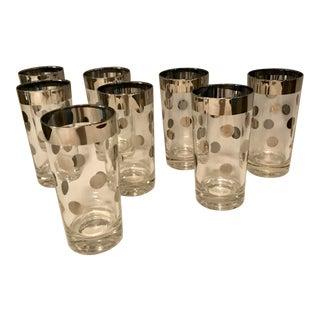 Dorothy Thorpe Silver Dot Tall Glasses - Set of 8