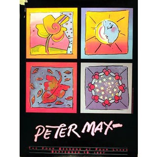 "1987 Peter Max ""Four Seasons at Four Lakes"" Poster"