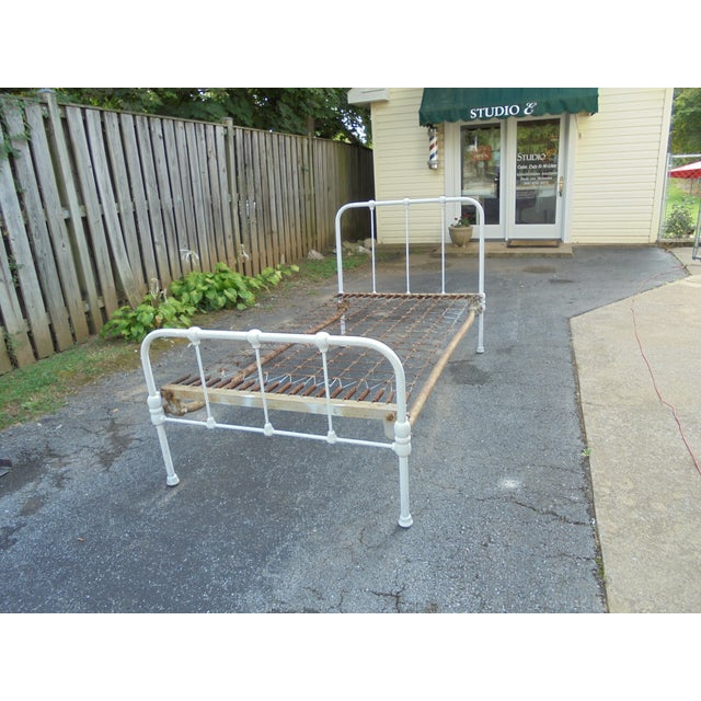 Vintage Iron Twin Bed - Image 2 of 8