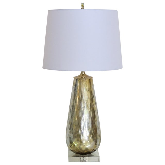 Image of Vintage Murano Gold Mercury Silver Lamp