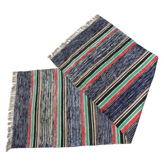 Swedish Hand Woven Rag Rug - 2′7″ × 7′6″