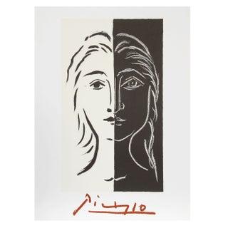 Pablo Picasso -Portrait en Deux Parties Lithograph