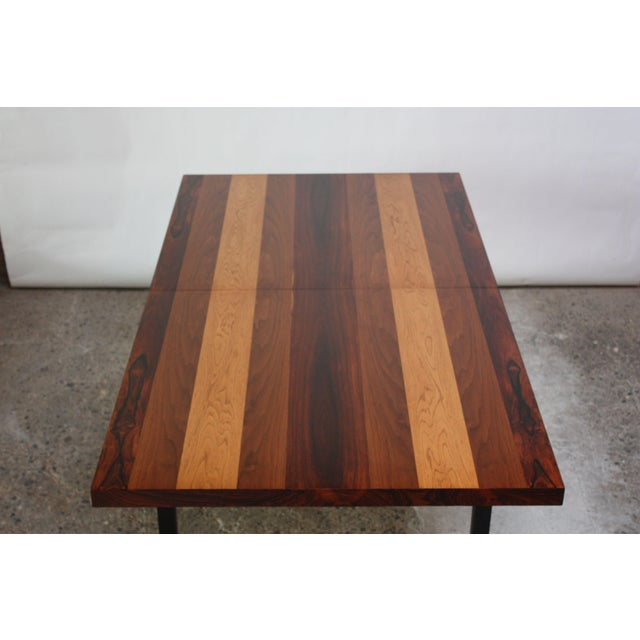 Directional Mixed-Wood Dining Table by Milo Baughman - Image 5 of 11