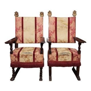 Pair of 18th Century Italian Chairs