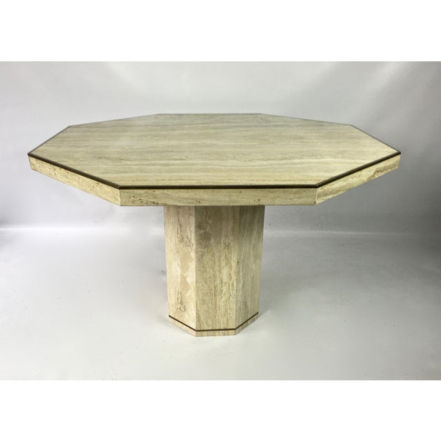 Travertine Slab Coffee Table: Travertine Marble Octagonal Center Or Dining Table