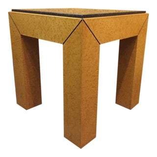 Custom Design Birdseye Maple Accent Table