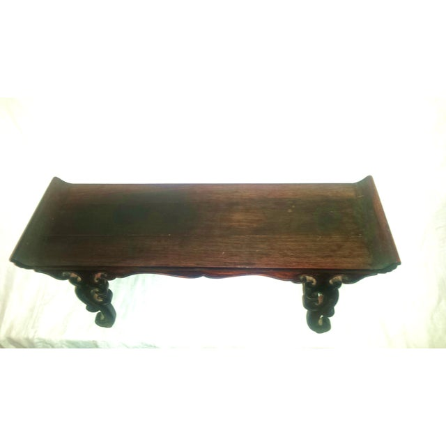 Small Antique Chinese Lacquered Wooden Altar Bench - Image 3 of 11