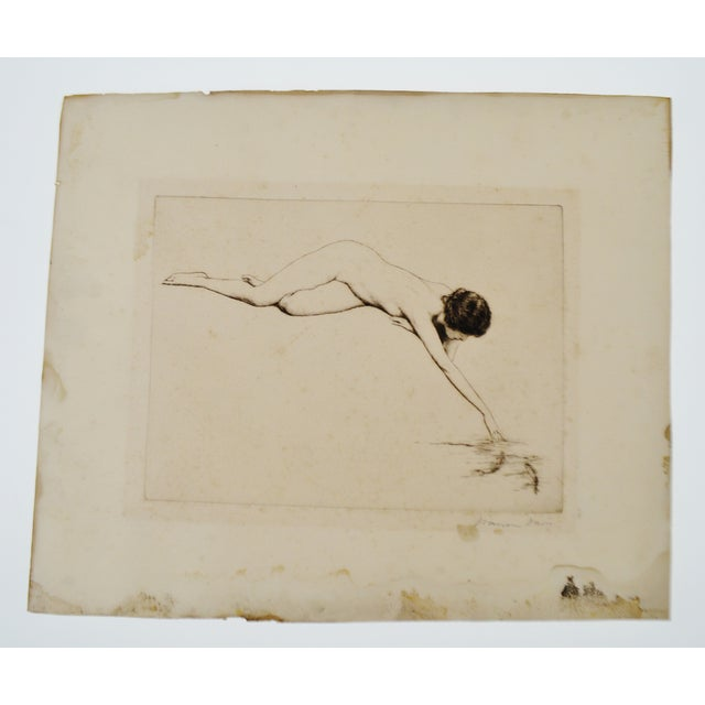 Early Warren B. Davis Pencil Signed Etching - Image 2 of 6