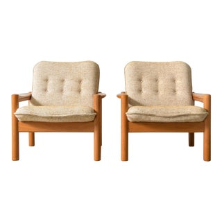 Danish Modern Domino Mobler Lounge Chairs Made in Denmark - A Pair