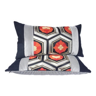 Japanese Obi Pillows- A Pair