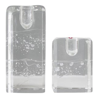 Timo Sarpaneva for Iittala Finland Arkipelago Glass Candle Holders - a Pair