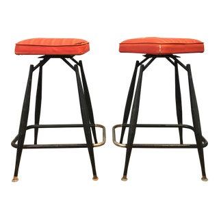 Thin-Line Bar Stools - A Pair
