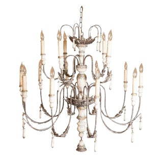 Large Venetian Fifteen-Light Chandelier