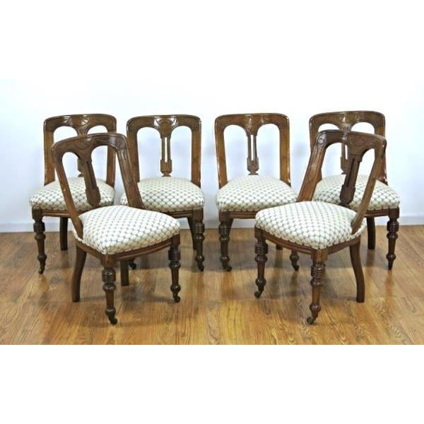 Regency Style Mahogany Dining Chairs - Set of 6 - Image 9 of 9