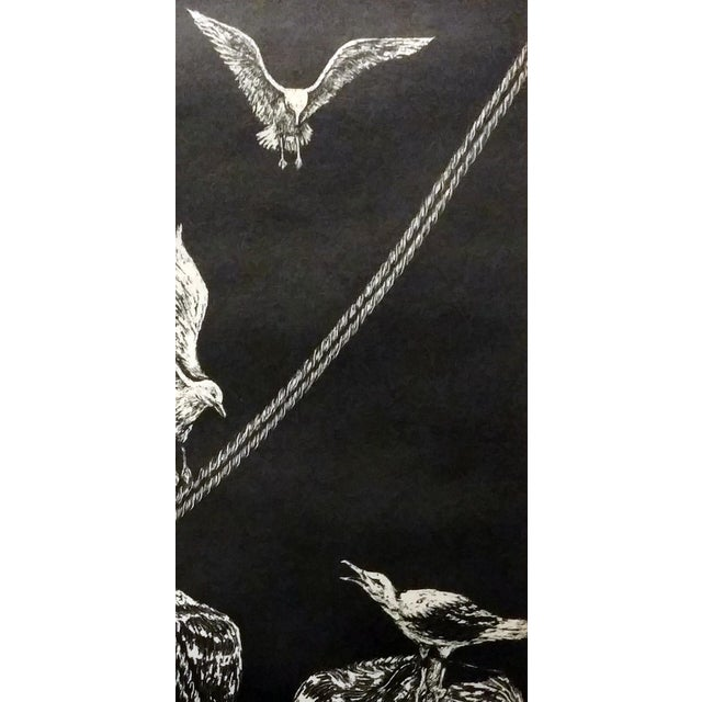 "Image of Jane Heckett ""Seagulls"" Knife Etching"