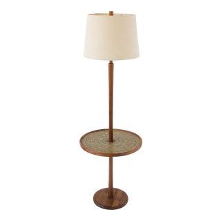 Gordon & Jane Martz Floor Lamp with Tiled Table