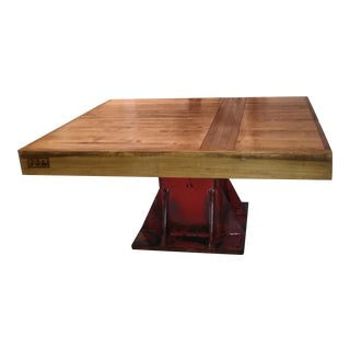 Industrial Bowling Alley Coffee Table