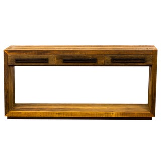 Handmade Reclaimed Solid Wood Console