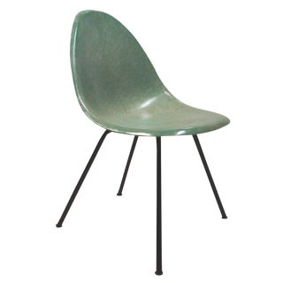 Mid-Century Green Fiberglass Shell Chair