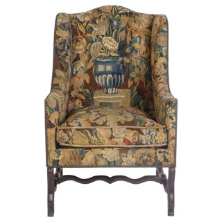 French Tapestry Chairs or Os De Mouton Bergeres