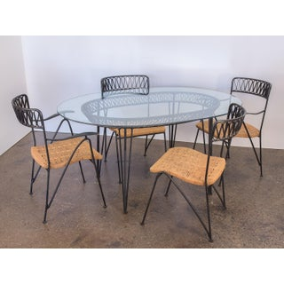 Salterini Woven Ribbon Chairs and Table Patio Set