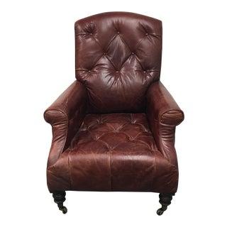 Restoration Hardware Leather Diplomat Armchair