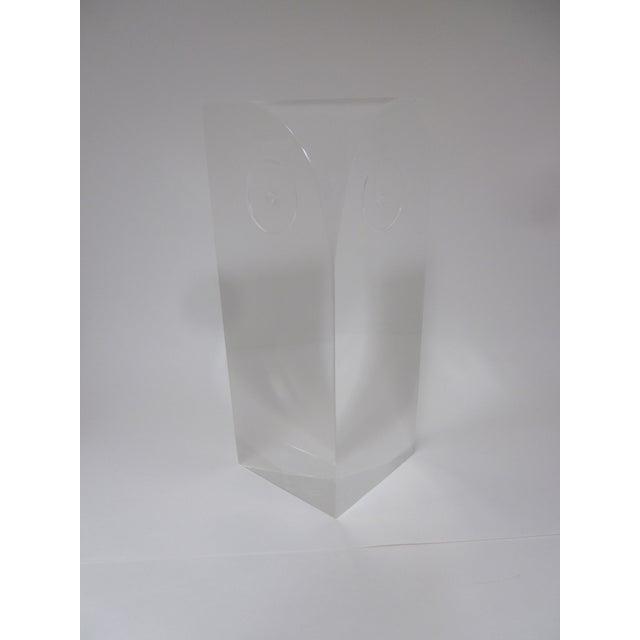 Guzzini Attri. Modernist Lucite Owl Sculpture - Image 6 of 10