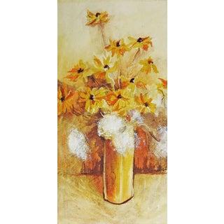 Yellow Daisies Still Life Watercolor Painting