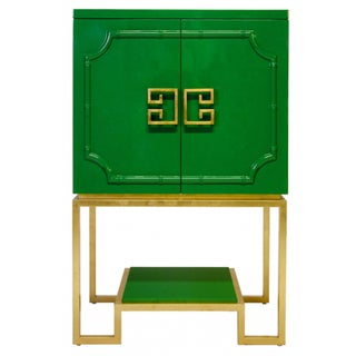 Emerald Green Lacquer Cabinet
