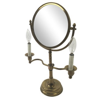Antique Brass Candelabra Vanity Mirror