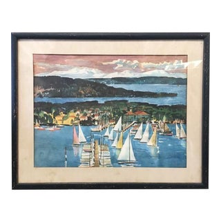 "Vintage ""Seattle Yachting"" Print"